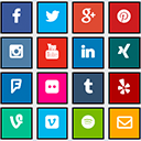 Social Media Icons (Facebook, Twitter, Instagram and more) for Shopware 6 icon