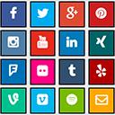 Social Media Icons für Footer und Seitenleiste icon