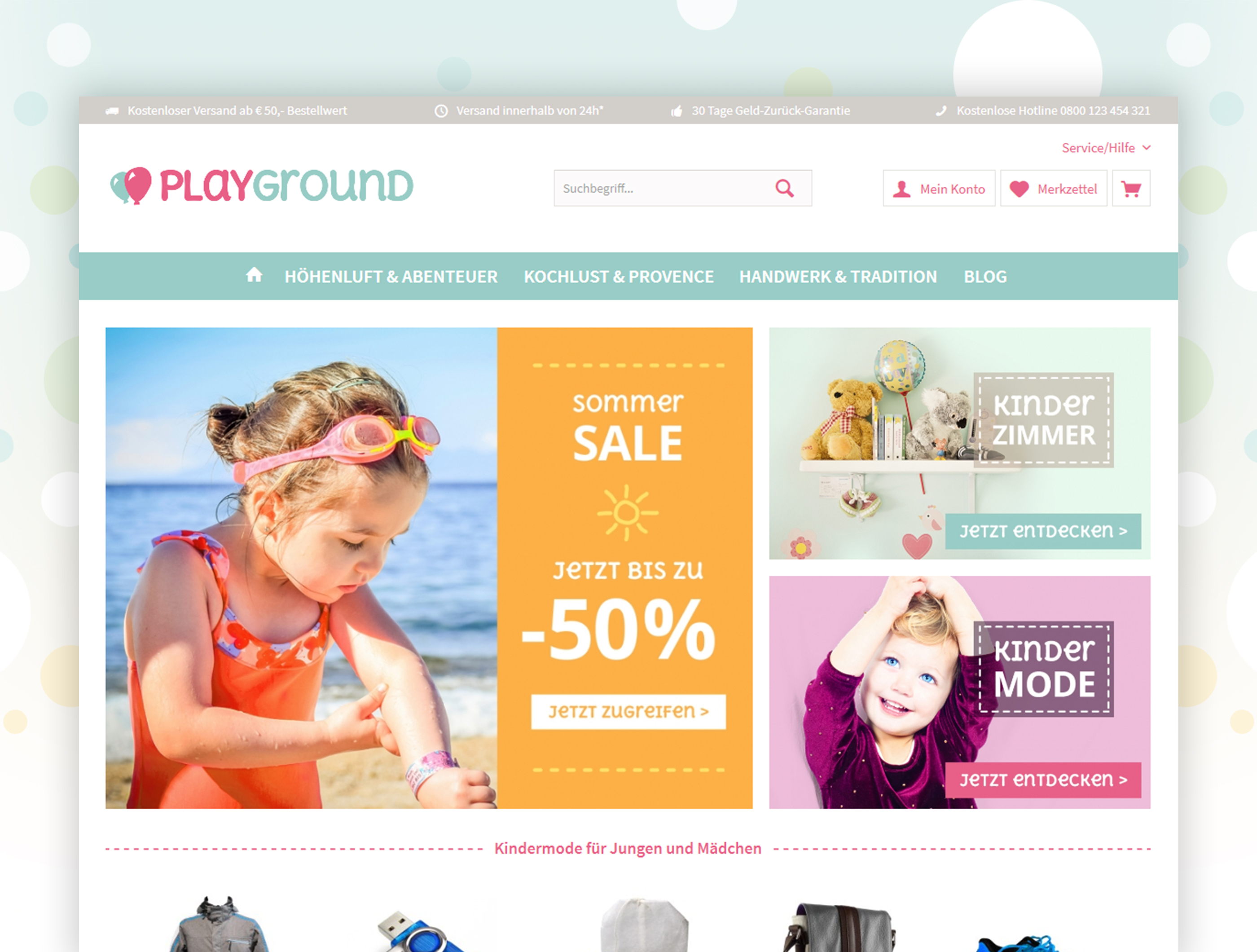 51c6686051 ThemeWare Kids | Customizable Responsive Theme | Children, party + gifts |  Industry | Themes | Shopware Community Store