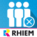 Customer group exclusion icon
