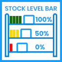Show Article Stock level Bar icon