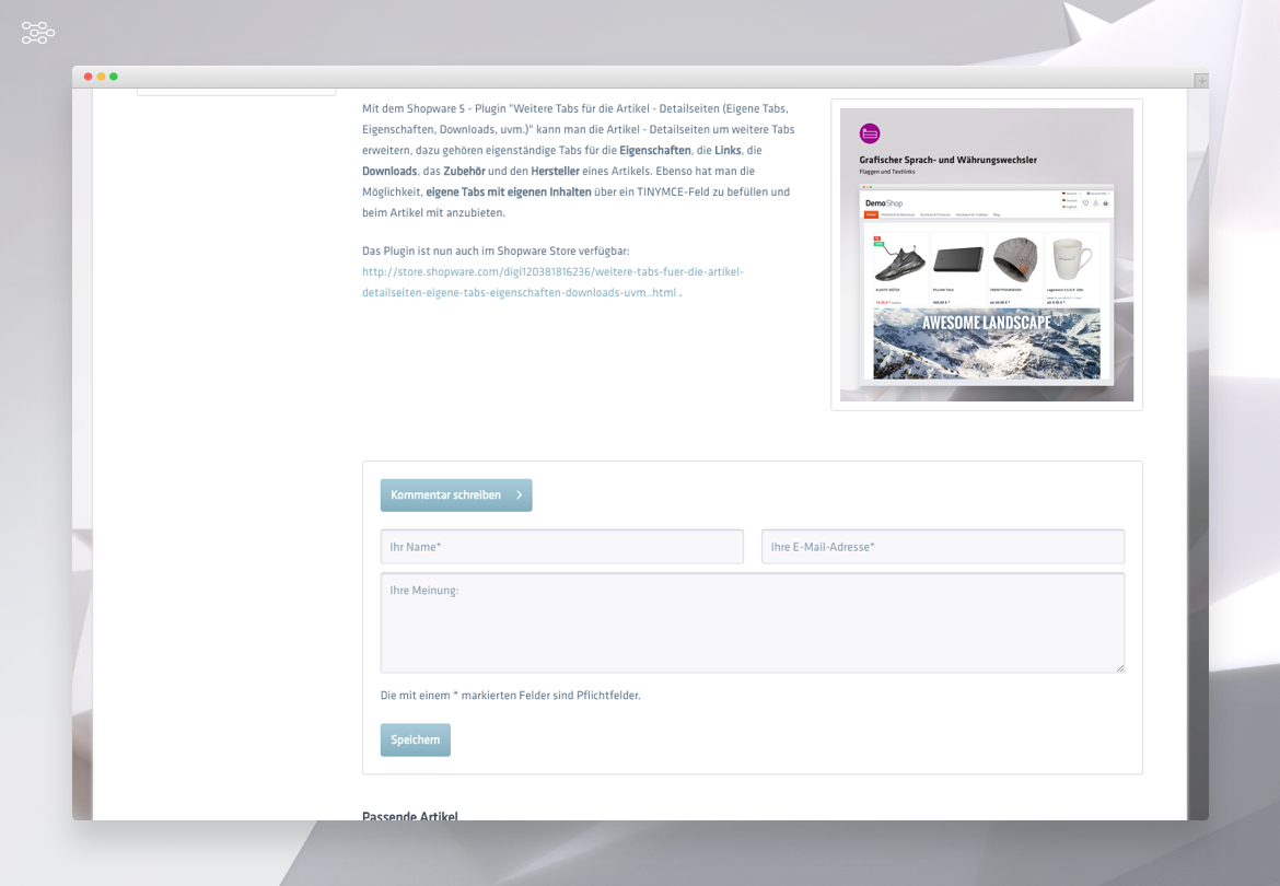 Customizing the shopware blog (new areas for the blog sidebar, etc )