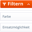 Aufgeklappter Kategorie-Filter