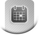 Calendar booking and appointment calendar for seminars / events icon