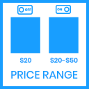 Price Range Min - Max on Listing & Detail Page icon