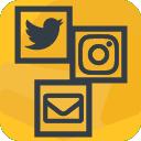 Social Media und Service Buttons für Facebook, Pinterest, Newsletter, WhatsApp uvm. icon