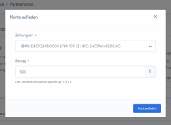 Shopware Account aufladen