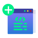 Insert script snippets in header and/or footer icon