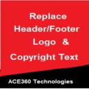 Logo-Wechsler (Kopf- und Fußzeile) & Copyright-Text