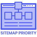 Select Google Sitemap Priority icon