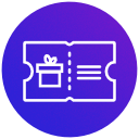 Vouchers for free items icon