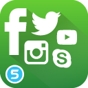 Social Media Vektor Buttons / Icons für Shopware (Facebook, Twitter, Youtube, Instagram, Pinterest,