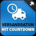 Versanddatum mit Countdown