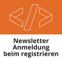 Newsletter-Anmeldung beim Registrieren icon