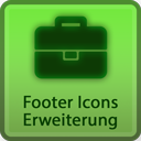 Extension of the footer icons