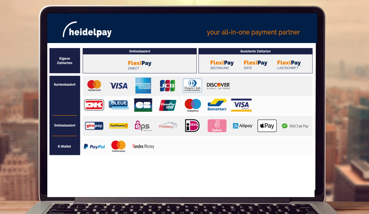 heidelpay - payment plugin for credit cards, direct debit, prepayment,  PayPal, SOFORT and more…