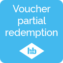 Redeem vouchers in partial amounts with remaining balance icon