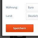 Auswahl von Land und Währung zur Anzeige der landestypischen Preise (Lieferschwelle, OSS) icon
