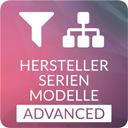 Abhängiger Filter per Kategorien: Hersteller, Serie & Modell für Ersatzteile, Drucker, Toner, Autos