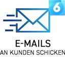 E-Mails an Kunden schicken icon