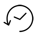 Order history in the customer account icon