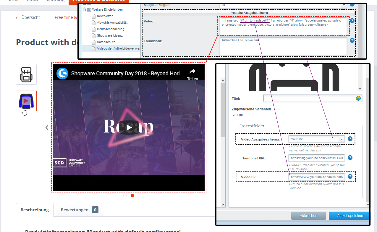 Add videos to product image management from Youtube, Vimeo, Facebook etc