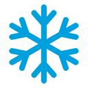 Winterzeit mit Schneeflocken icon